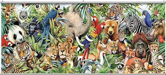 Jungle Animals Minute Mural 121753