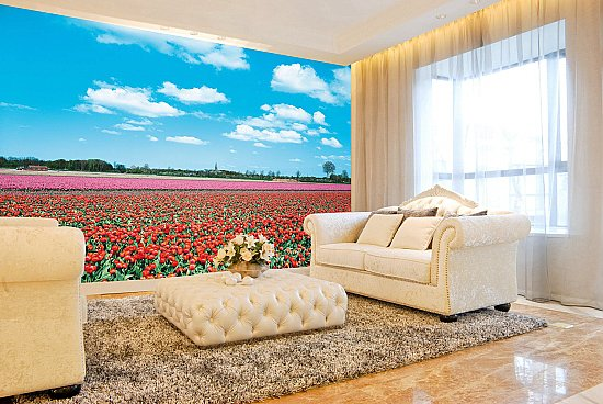 Lavender Plantation Wall Mural 8025 roomsetting