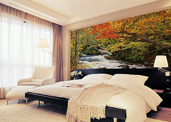 Autumn Brook Mural 1826 DS8026 Roomsetting