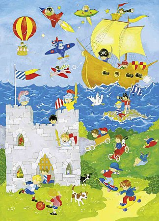 It\'s a Boys' World Wall Mural DM428