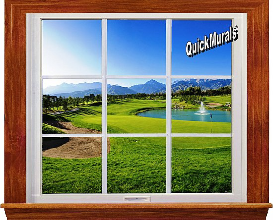 Sand Trap Window 1-Piece Canvas Peel and Stick Canvas Wall Mural