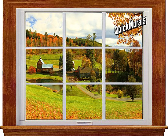 Country Window 1-Piece Canvas Peel and Stick Canvas Wall Mural