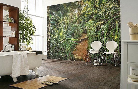 Jungle Trail Wall Mural by Komar 8-989 Roomsetting