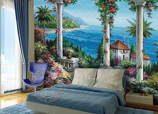 Floral Patio Mural PR1812 8012 roomsetting