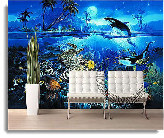 Tropical Fish Mural 1818