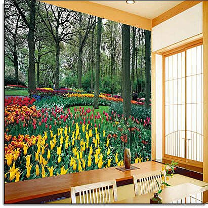 Tulip Garden Wall Mural DS8042 roomsetting