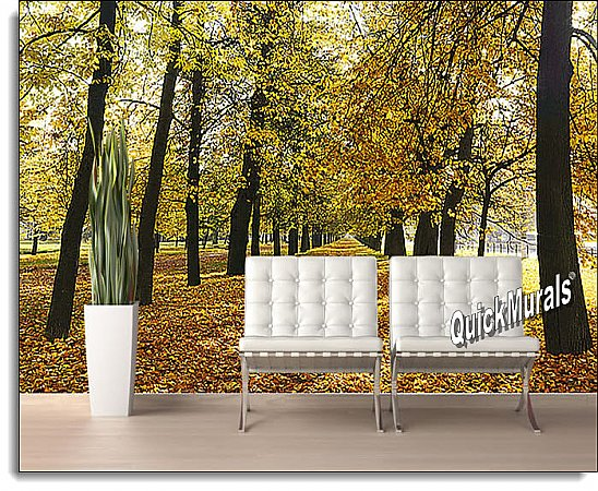 Autumn Park Peel and Stick Wall Mural roomsetting