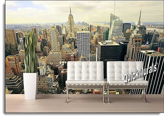 The Big Apple Peel & Stick Canvas Wall Mural Roomsetting