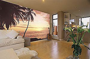 Hawaiian Sunset Mural C381