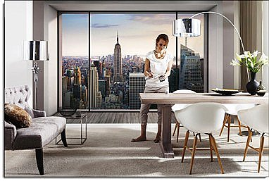 Penthouse Wall Mural 8-916 roomsetting
