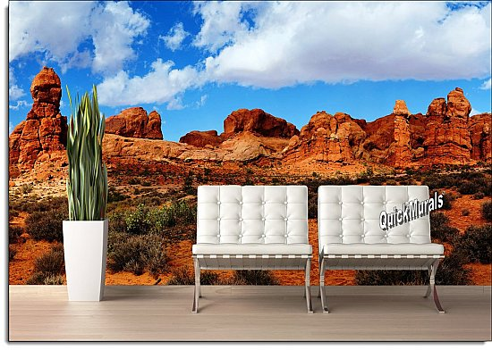 Canyonlands Peel and Stick Wall Mural Roomsetting