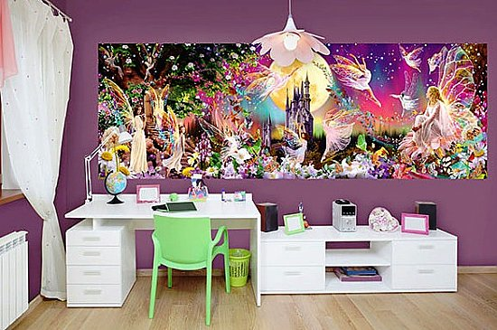 Fairyland Wall Mural DM311 by Ideal Decor Roomsetting