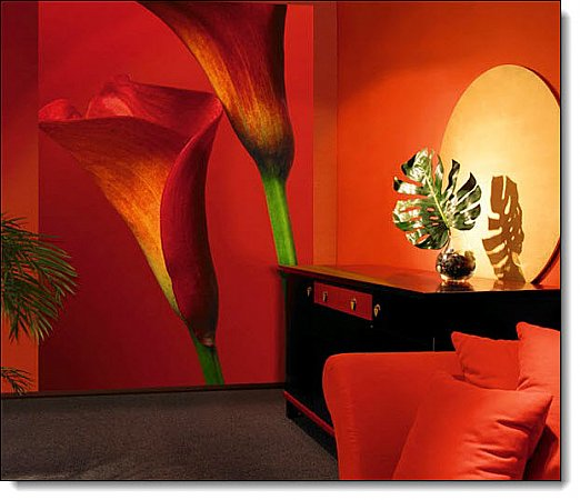 Red Calla Lilies Mural 406