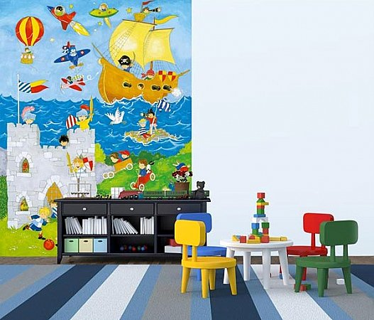 It\'s a Boys' World Wall Mural DM428 roomsetting