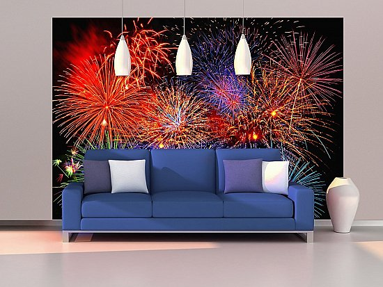 Fireworks Wall Mural DM131 roomsetting