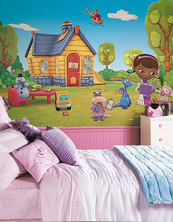 DOC MCSTUFFINS MURAL ROOMSETTING