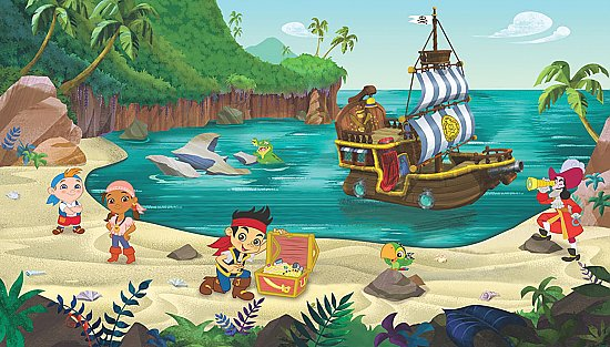 Jake and the Neverland Pirates Mural