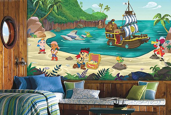 Jake and the Neverland Pirates Mural Roomsetting