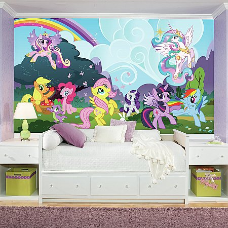 MY LITTLE PONY PONYVILLE MURAL ROOMSETTING