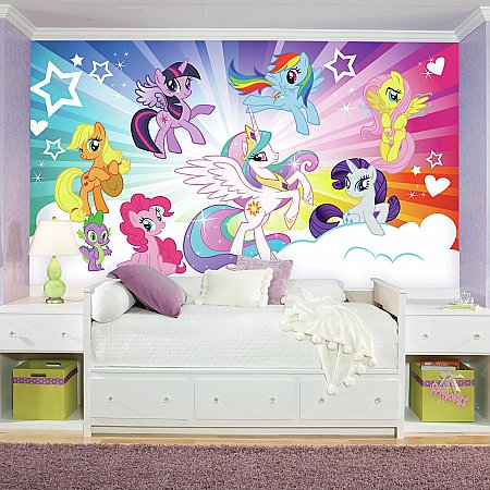 MY LITTLE PONY CLOUD BURST MURAL ROOMSETTING