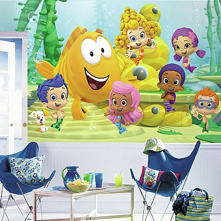 BUBBLE GUPPIES XL MURAL ROOMSETTING