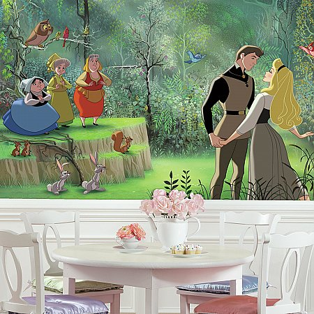 SLEEPING BEAUTY XL MURAL ROOMSETTING