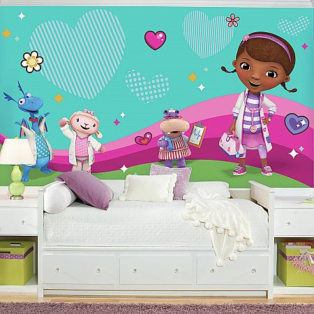 DOC MCSTUFFINS AND FRIENDS XL ROOMSETTING