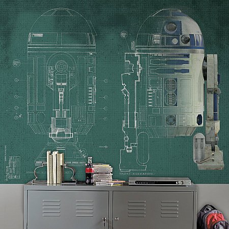 STAR WARS R2D2 XL MURAL ROOMSETTING