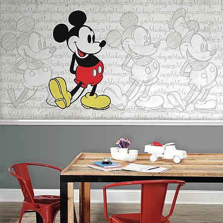 CLASSIC MICKEY XL MURAL ROOMSETTING