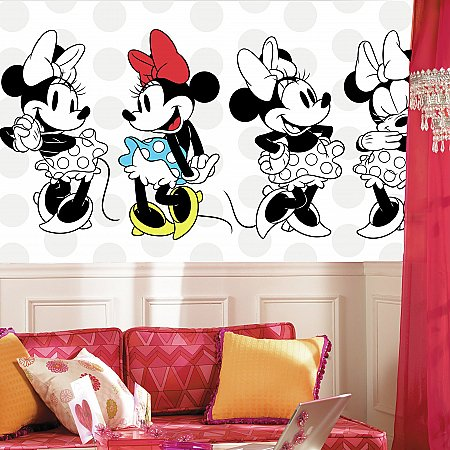 MINNIE ROCKS THE DOTS XL MURAL ROOMSETTING