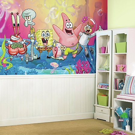 SPONGEBOB SQUARE PANTS XL MURAL ROOMSETTING
