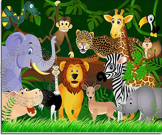 Jungle Friends Peel & Stick Canvas Wall Mural