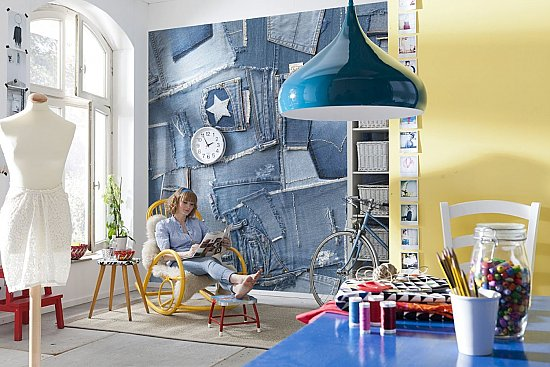Jeans Wall Mural 8-909 roomsetting