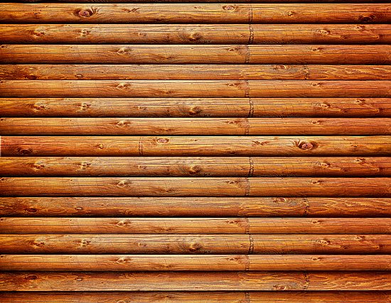 Log Cabin (Red Cedar) CANVAS Peel and Stick Wall Mural