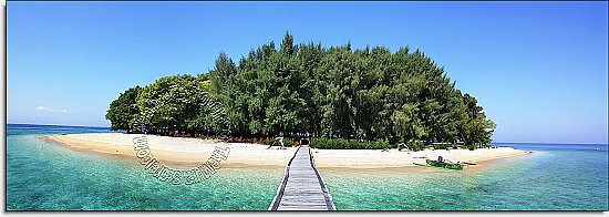 Maldive Island One-piece Peel & Stick Canvas Wall Mural