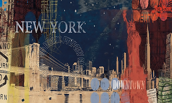 New York Streets Mural MP4856M by York