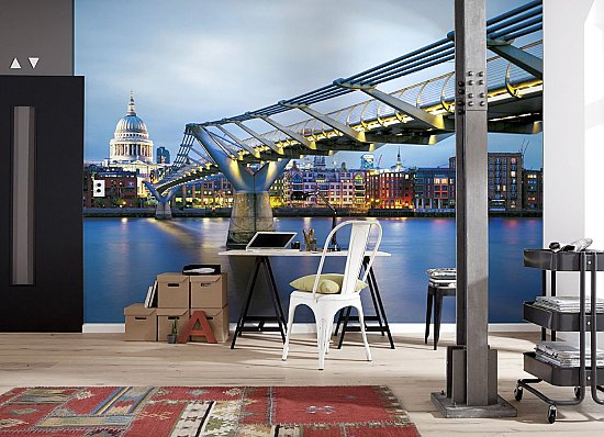 Millennium Bridge Wall Mural 8-924 roomsetting large