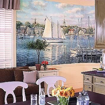 Harbor Mural RA0146M Roomsetting
