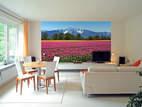 Tulips Wall Mural DM137 roomsetting