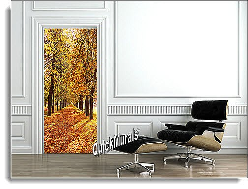 Wooded Path Peel U0026 Stick 1 Piece Door/Wall Mural |Door Murals |The Mural  Store