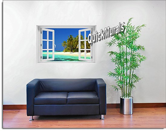 Cook Island Window Mural Roomsetting