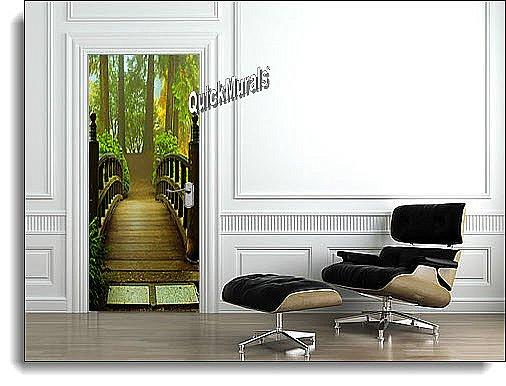 Hidden Forest Canvas Door Mural roomsetting