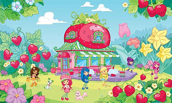 Strawberry Shortcake Wall Mural JL1202M by York Roommates