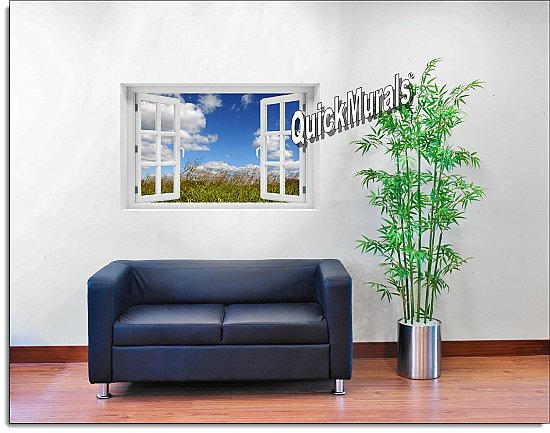 Meadow Window Mural Roomsetting