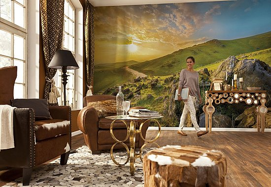 Mountain Morning Wall Mural by Komar 8-525 roomsetting