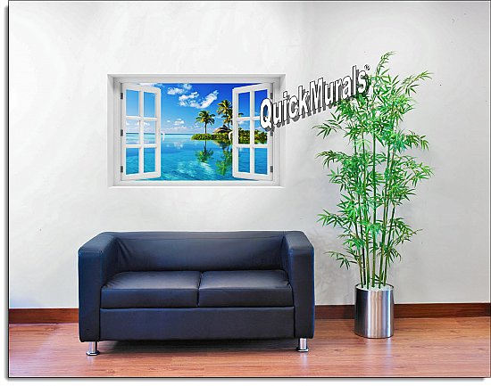 Oasis Window Mural Roomsetting