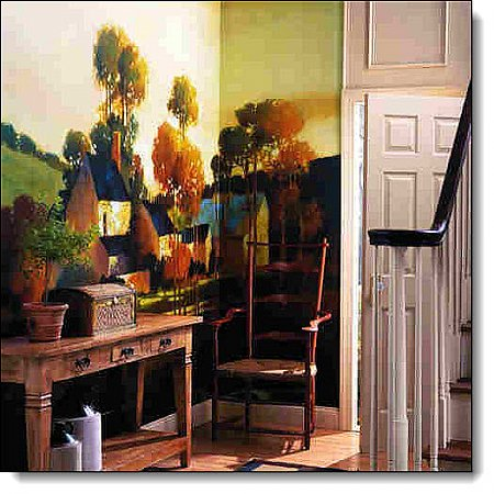 Painterly Landscape Mural