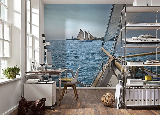 Sailing Wall Mural by Komar 8-526 roomsetting