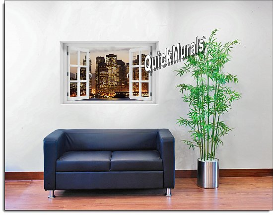 San Francisco Skyline Window mural #1 Roomsetting
