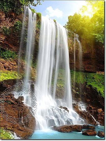 Secret Falls Peel & Stick Canvas Wall Mural